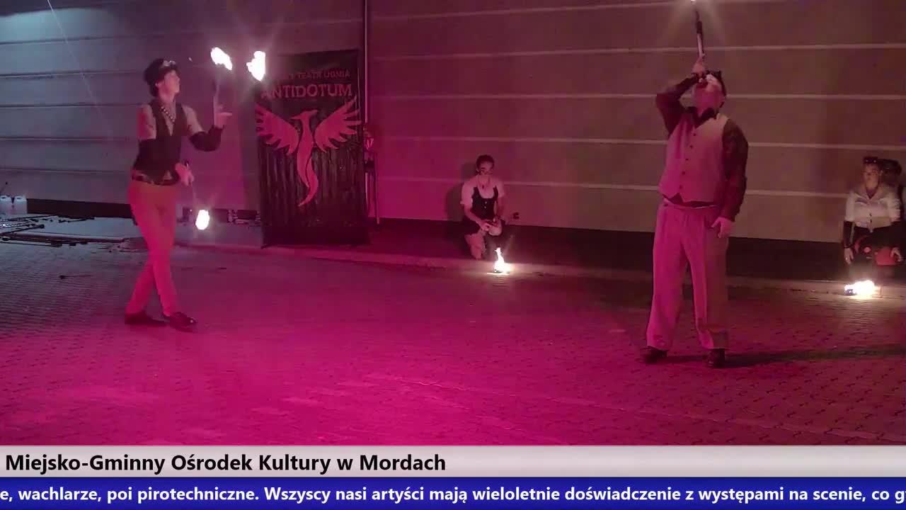 PAROWOZOWISKO – pokaz ulicznego Teatru Ognia ANTIDOTUM